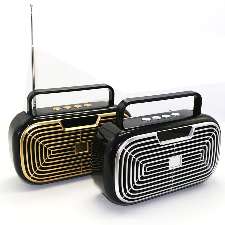 New Arrival FM Radio Portable Wireless Multifunction BT Speaker with Antenna and <strong>LCD</strong> Screen