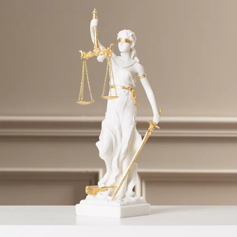 Factory customized ancient greek mythology goddess sculpture lady justice Themis statue