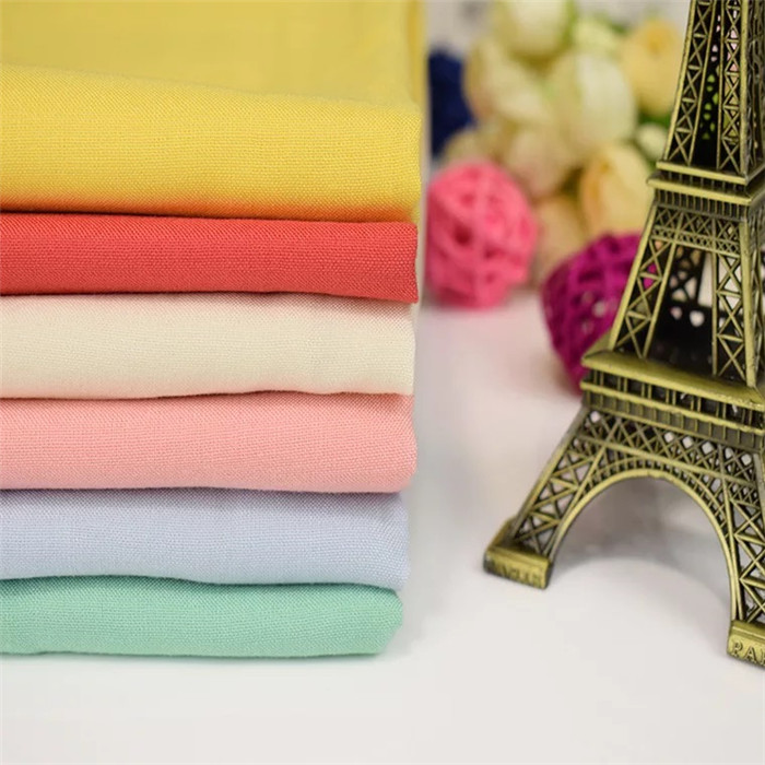 High quality plain solid dyed  100% rayon woven fabric