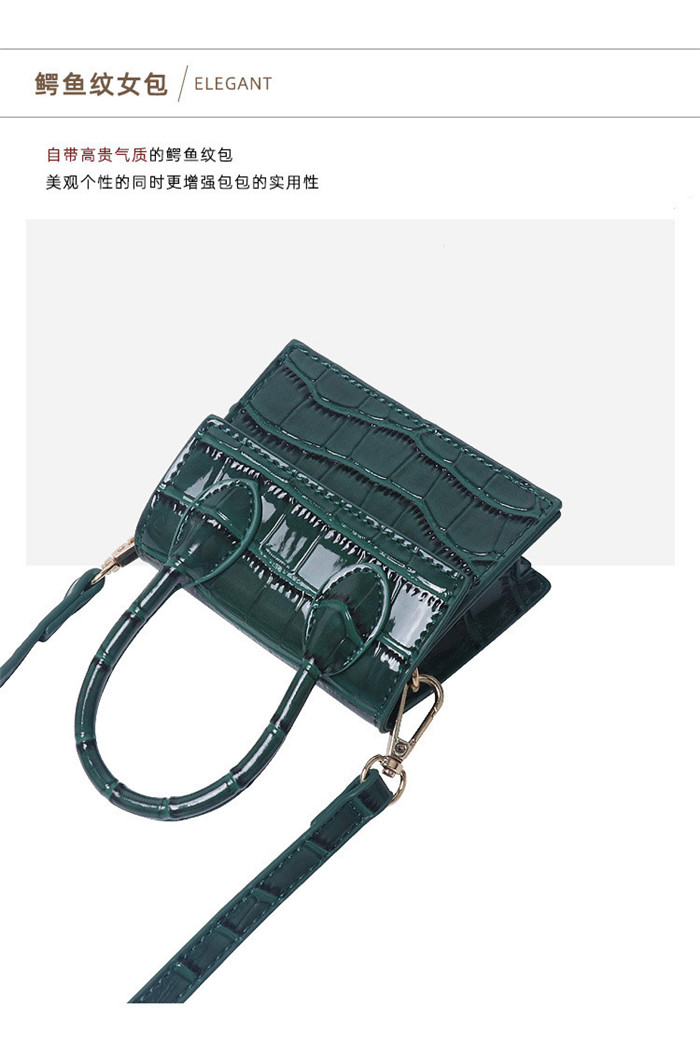 New Fashion Small Flap Shoulder Bag Crocodile Pattern Leather Ladies Designer MIni Handbags for Women