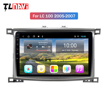 10 2G RAM Android Rádio Do Carro para Toyota Land cruiser 100 LC100 LC 100 2005-2007 multimedia player rádio Auto