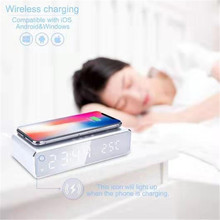 Best Selling Portable Fast Wireless Charger Time Display Desk Stand Charger for <strong>Mobile</strong> <strong>Phones</strong>