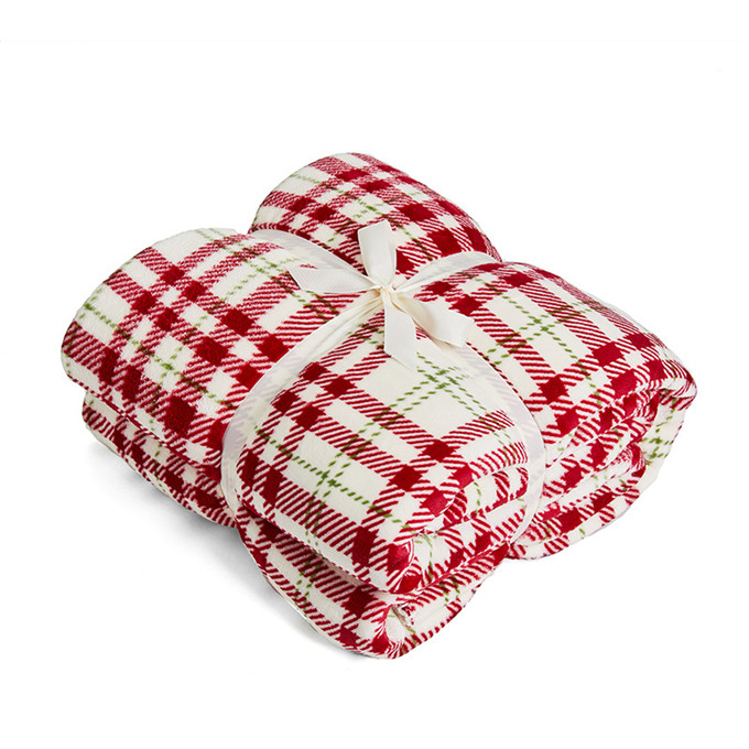 New best W5743 Super Soft Warm <strong>Plaid</strong> Patterned Polar Cabin <strong>Plaid</strong> Red Throw Cozy Lightweight Blanket