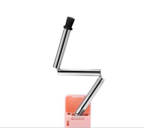 FQ brand folden stainless steel metal drinking straw