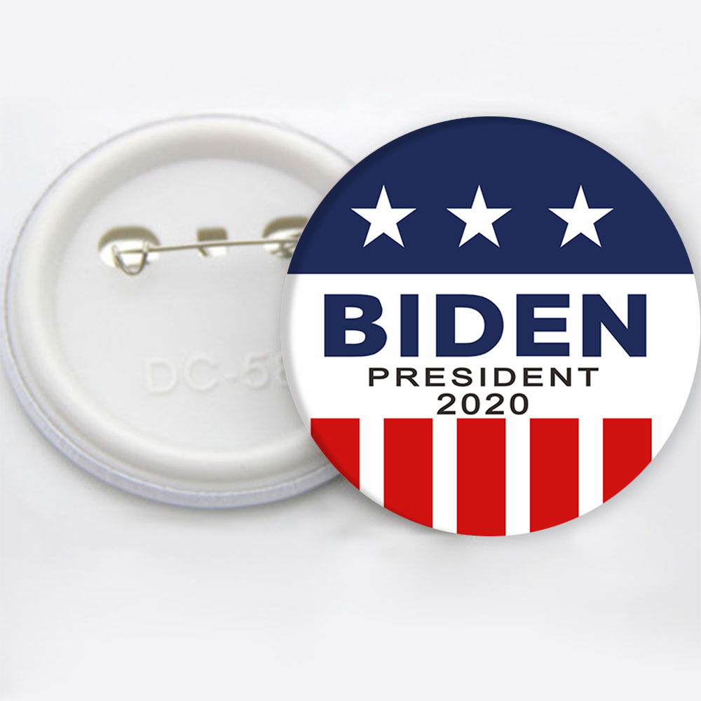 <strong>J118</strong> In Stock Hot Sell 2020 American President Election Trendy Biden Brooches Chic Outdoor Campaign Biden Pins