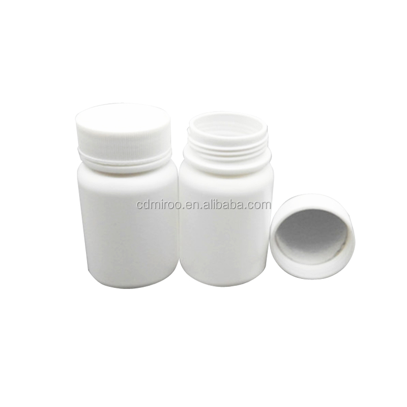 60cc HDPE Capsules Pharmaceutical Bottle with Screw Caps and aluminum foil caps
