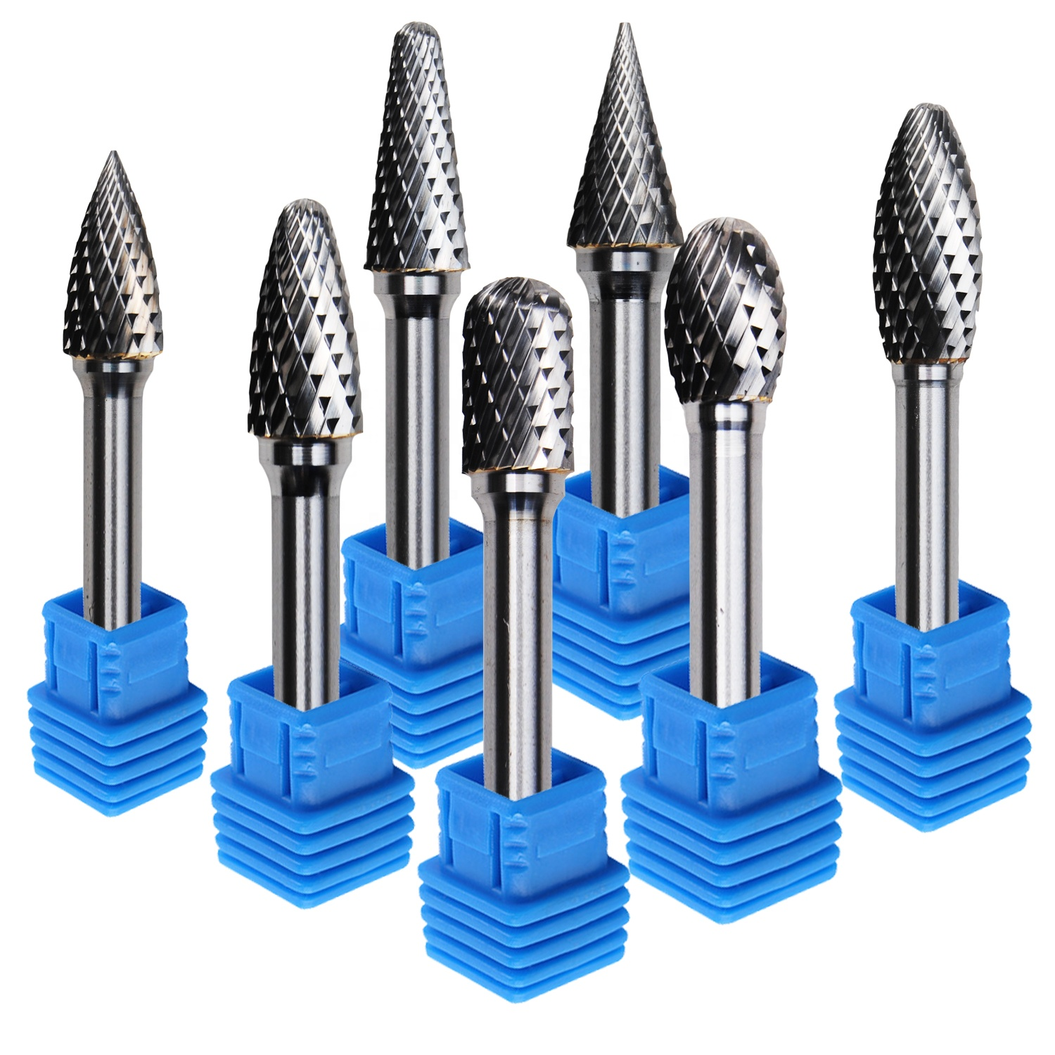 high speed grinder tct flexible rotating double cut extra long air tools tungsten <strong>carbide</strong> rotary burrs burr set single cut
