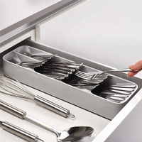 Drop shipping Eco-friendly Spoon Tray Separation cutlery drawer tray kitchen storage organizer