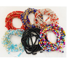 adjustable Ladies sexy loss weight plus size African ghana cotton string tie on body belly chain waist beads jewelry for party