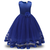 Newest Popular Little Kids Girls Maxi Party Dresses Princess Birthday Dress For Girl 2-10 Year