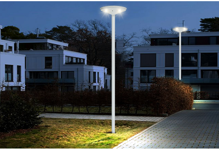 round motion sensor solar led garden lamp pathway outdoor