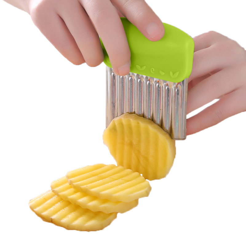 Wavy French Fries <strong>Cutter</strong> Stainless Steel Potato Slicer Vegetable Chopper Veggie Slicer Durable Kitchen Gadgets <strong>Cutter</strong>