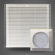 JK6622 dust proof cabinet air filter with cut size 148.5mm x 148.5mm