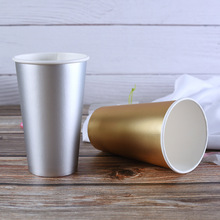 Gold Silver Color Hot Stamping Disposable Coffee <strong>Paper</strong> Cup