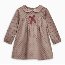 New fashion cotton <strong>girl's</strong> long-sleeve kids <strong>dress</strong> baby toddler girl bow-tie <strong>dress</strong>