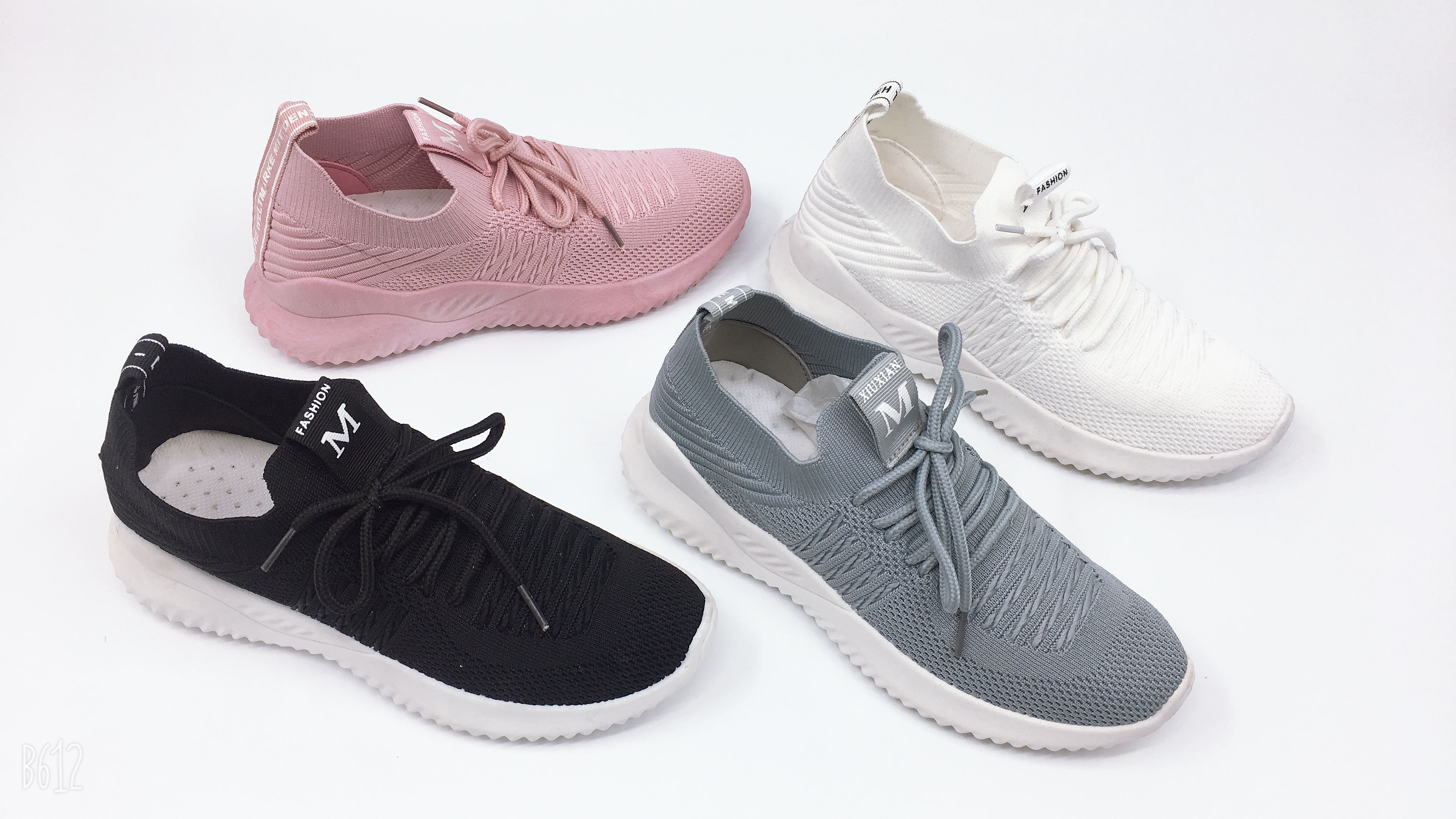 Eco Friendly Shoes Women Flying Woven Sneakers Breathable Trendy Sneakers Casual Sport Shoes