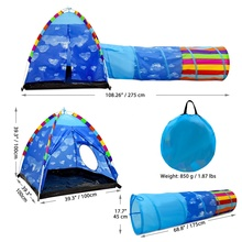 Wholesale Teepee Tent Kids Indoor Tent With Tunnel For Kids