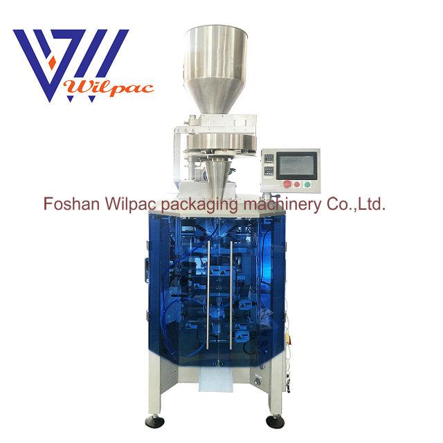 Granulate sugar/salt cup filler high speed running 3 servo motors vertical form packing machine