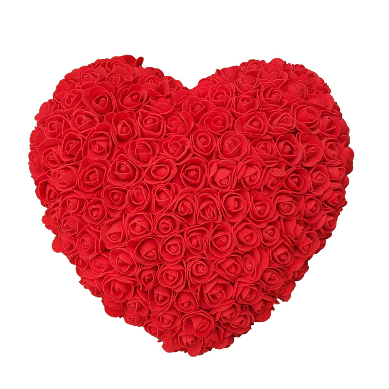 M0177 hot sale valentine day gifts foam flower heart made of rose in box