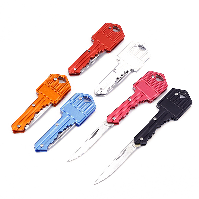2020 new style survival key <strong>knife</strong> folding key shaped <strong>knife</strong> self defense knifes