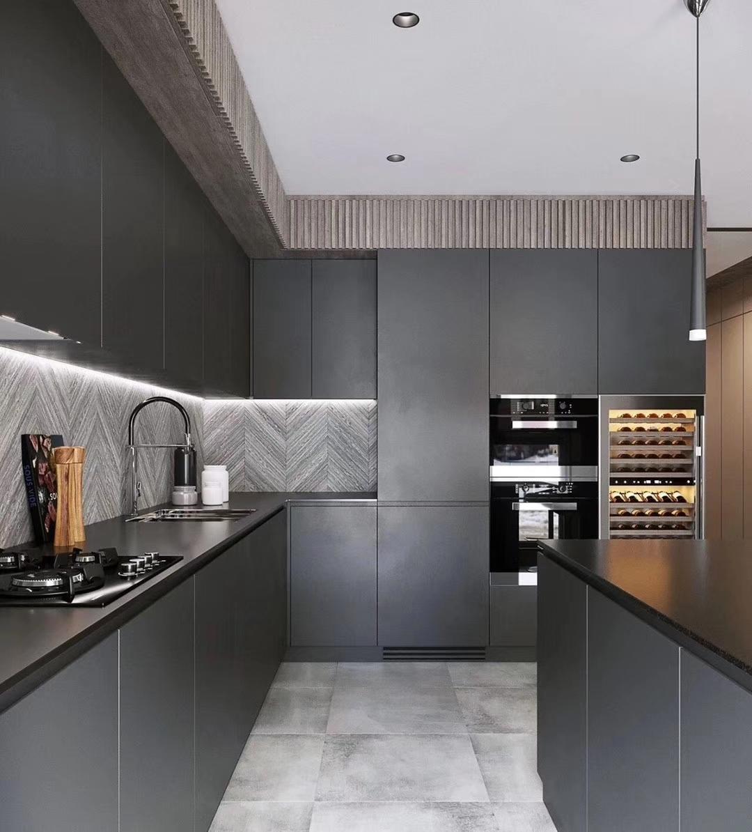 Modular Black Melamine Kitchen Cabinets Modern Picture Australia Standard Buy Modern Kitchen Cabinets Picture Modular Kitchen Cabinets Modern Kitchen Cabinets Australia Standard Product On Alibaba Com