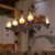candle chandelier hanging lamp wood ceiling lighting
