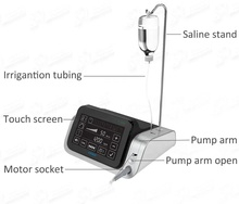 Surgical brushless dental implant motor system optic fiber LED touch <strong>screen</strong> 20:1 implant contra angle handpiece with foot pedal