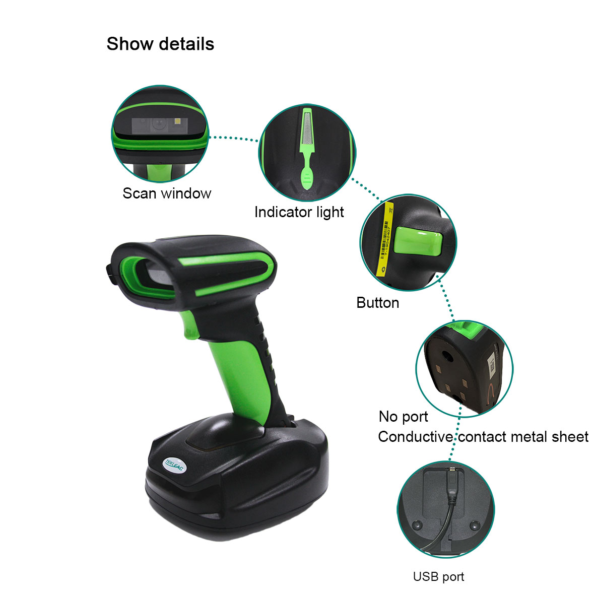Handheld logistics industrial IP65 2D wireless barcode <strong>scanner</strong> with charging Base