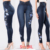 Skinny Jeans Fashion Women Denim Pants Embroidery Printing Sexy Lady Up Hip Plus Size