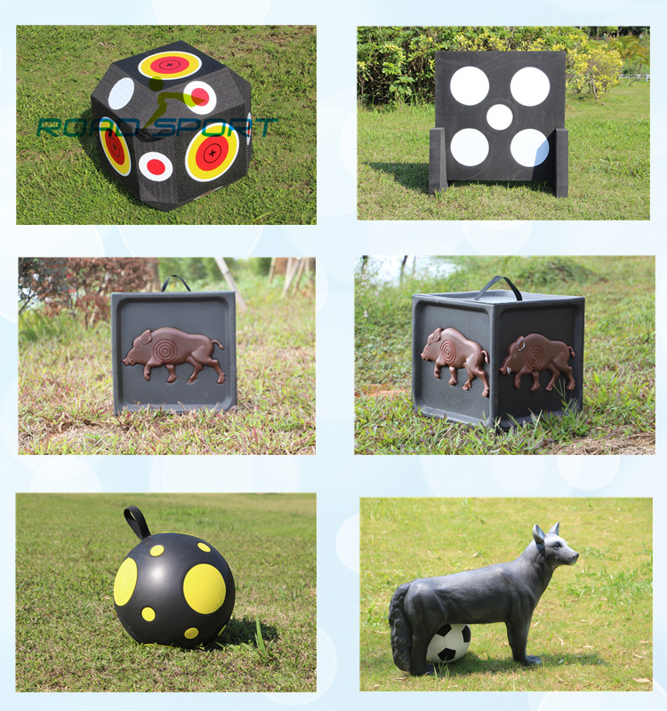 3D vivid design domino XPE foam archery target for shooting OEM