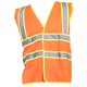 Hight Visibility Safety Striped Reflective Vest With Works