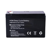 Australia Free Shipping 12AH AMP Hour AGM Deep Cycle Dual Fridge long life Solar Power 12V Battery