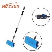1.8m long telescopic truck cleaner, more durable, short handle car wash brush