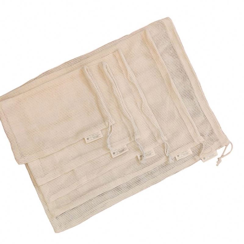 100% Small Drawstring Muslin Gift Pouch Cotton Bag