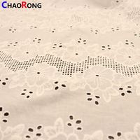 CRF1743 Multifunctional Cutwork Cotton Fabric For Wholesales