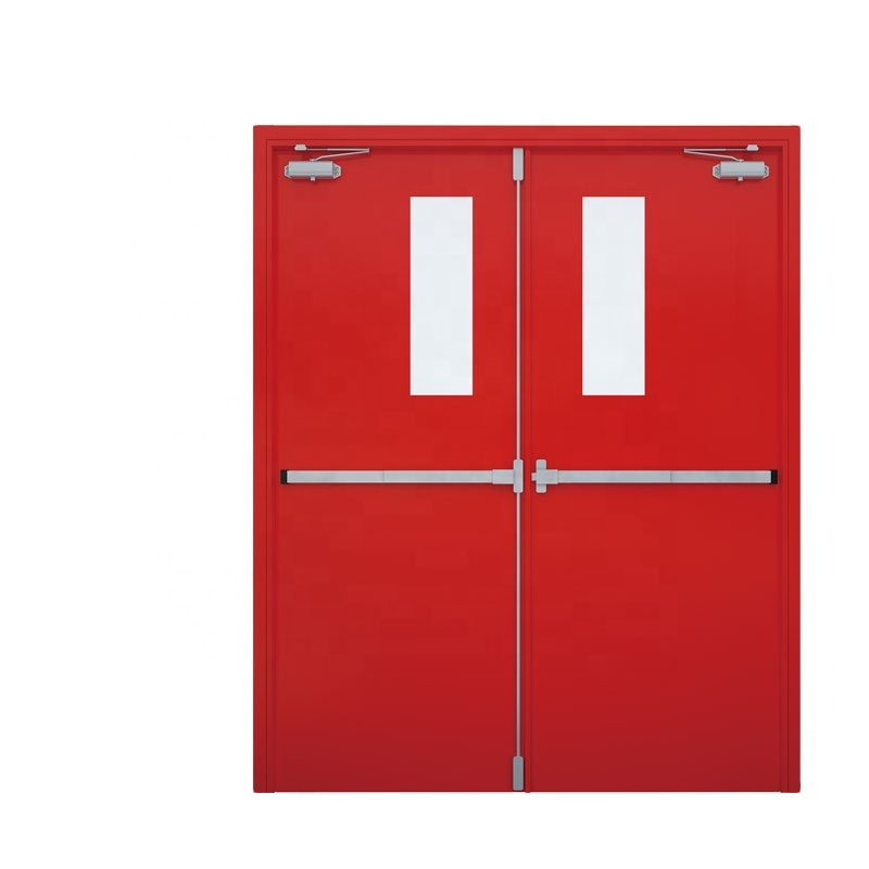 UL Listed 1 And 3 Hour cheap steel fire rated <strong>door</strong> in philippines For Emergency
