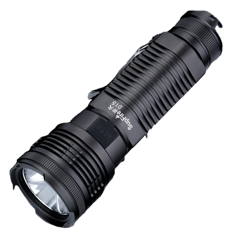 SupFire <strong>D15</strong> customized logo Engraved Long Distance USB Rechargeable 10w 700 lumen Tactical led torch flashlights