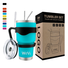 WeVi Double walled stainless steel tumbler <strong>cups</strong> vacuum insulated travel tumbler with straw wholesale tumbler <strong>cups</strong>
