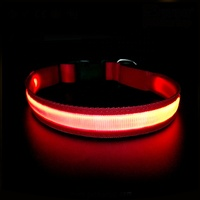 2019 Amazon Hot Selling USB Charging LED Colorful Nylon Dog Collar Pet Accessories