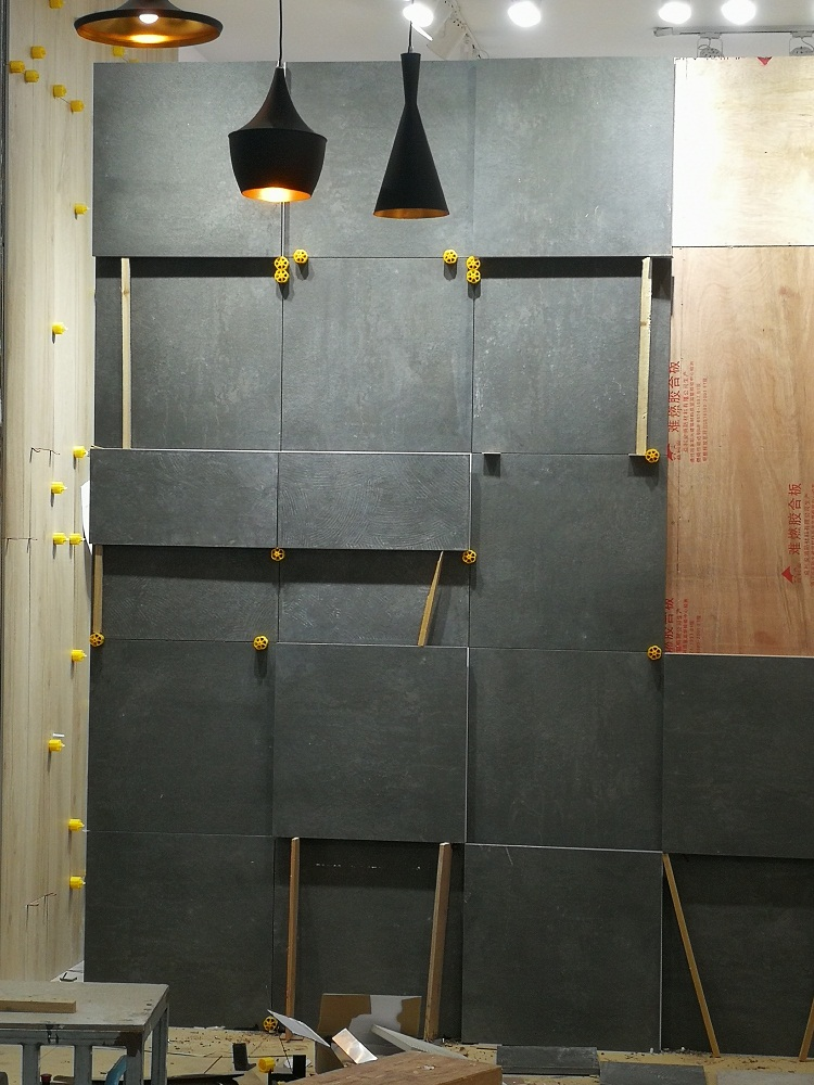 Interior Decorative Grey Lava 3D Wall Panels For Sale,  Stone Tiles Volcanic Ash