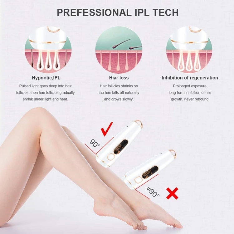 Amazon Hot Selling Permanent Laser 500,000 Flashes  IPL Hair Remover for Women Hair Removal
