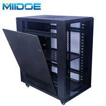 Miidoe Glass door wall mount <strong>network</strong> 18u data cabinet with swing rack frame