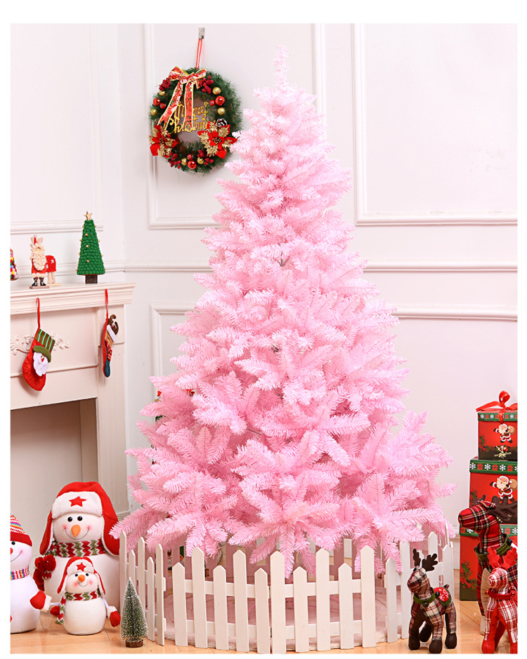 150cm pink artificial <strong>christmas</strong> with gift decoration