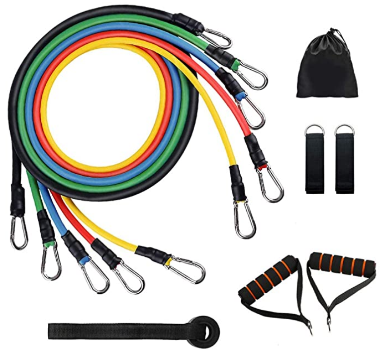 Hampool Custom Logo Pull Up Exercise Latex <strong>Fitness</strong> 11Pcs Resistance Bands Set