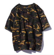 Summer New <strong>Men's</strong> T-<strong>shirt</strong> Casual Korean Youth Loose Camouflage Printed Short-sleeved T-<strong>shirt</strong>