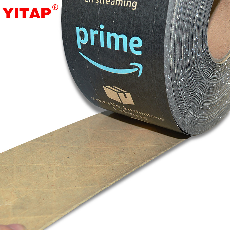 Custom Printing Amazon Prime Black Packing Kraft Paper Tape