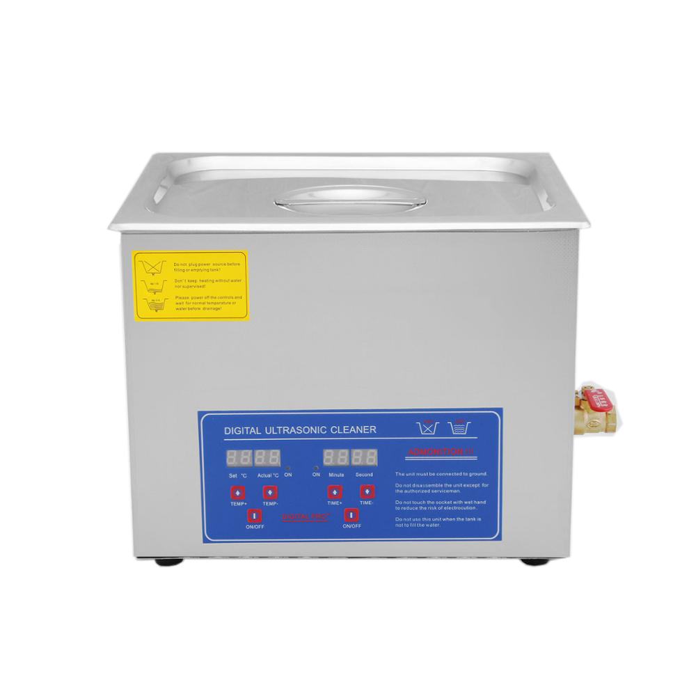 Ultrasonic Cleaner 15 <strong>L</strong> Liter Stainless Steel Industry Heated Clean Glasses