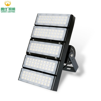 High Quality 160 lumen per watt 100w 200w 250w 300w 400w Modular LED Flood Light Aluminum High Power Outdoor