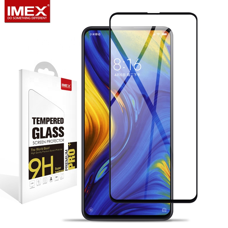 Original 9H 0.3MM Full cover <strong>10</strong> <strong>D</strong> Tempered Glass Screen Protector For Xiaomi Mix 3