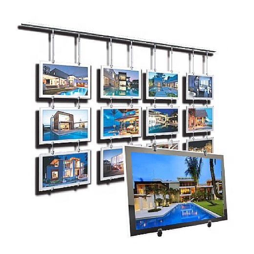 Real Estate Agent Cable Window LED Light Box